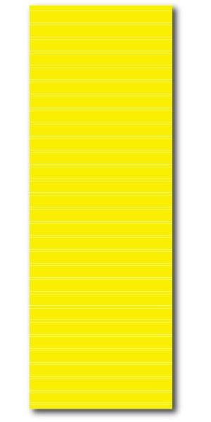 """Affiche """"jaune avec lignes blanches de repérage"""" L60 H170 cm"""