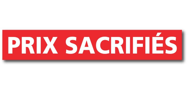 """Affiche """"PRIX SACRIFIES"""" L120 H20 cm"""