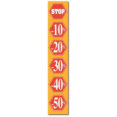 """Affiche """"STOP -10%...-50%"""" L30 H165cm"""