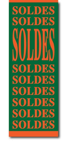 "Affiche ""SOLDES-SOLDES..."" L60 H168 cm"