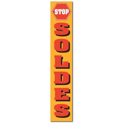 """Affiche """"STOP SOLDES"""" L30 H165 cm"""