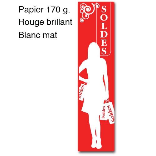 """Affiche """"SOLDES"""" silhouette femme L40 H165 cm"""