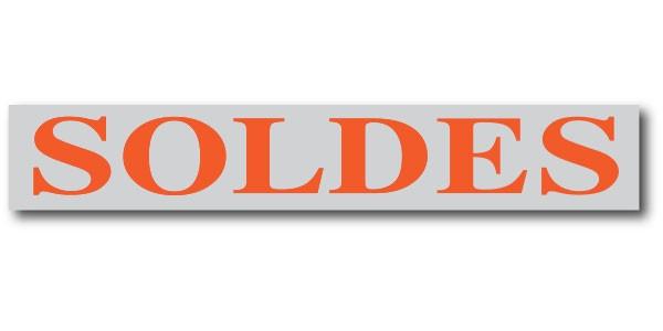 """Affiche """"SOLDES"""" L168 H28 cm"""