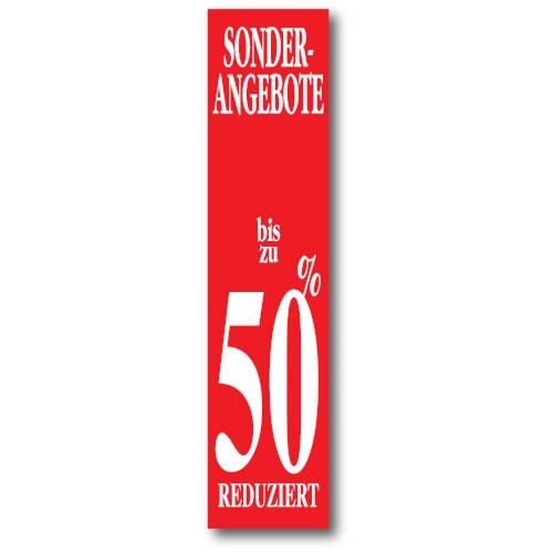"Plakat ""50% REDUZIERT"" 170 X 40 CM"