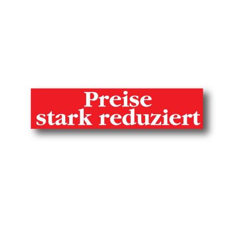 """Plakat """"Preise stark..."""" 82 X 20 CM"""