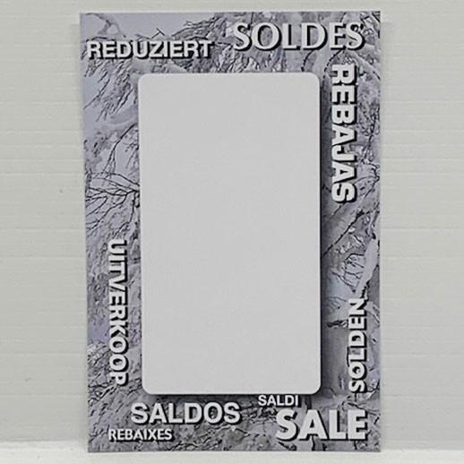"""Paquet de 100 étiquettes """"déco Hiver - SOLDES"""" L80 H120 mm"""