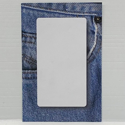 """Paquet de 100 étiquettes """"déco Jeans"""" L80 H120 mm"""
