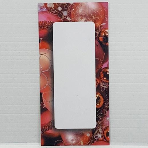 """Paquet de 100 étiquettes """"déco Noël rouge"""" L60 H120 mm"""