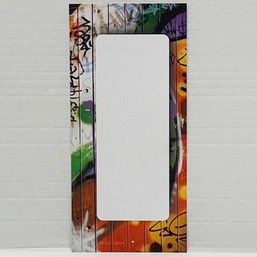 """Paquet de 100 étiquettes """"déco Graffiti"""" L60 H120 mm"""