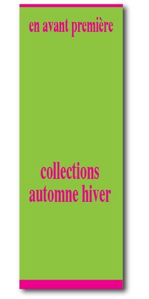 """Affiche """"collections automne-hiver"""" L60 H160 cm"""
