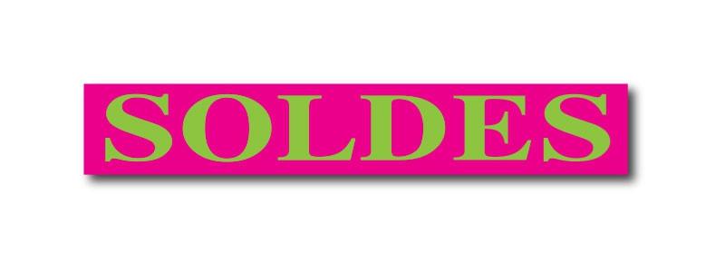 """Affiche """"SOLDES"""" L160 H28 cm"""