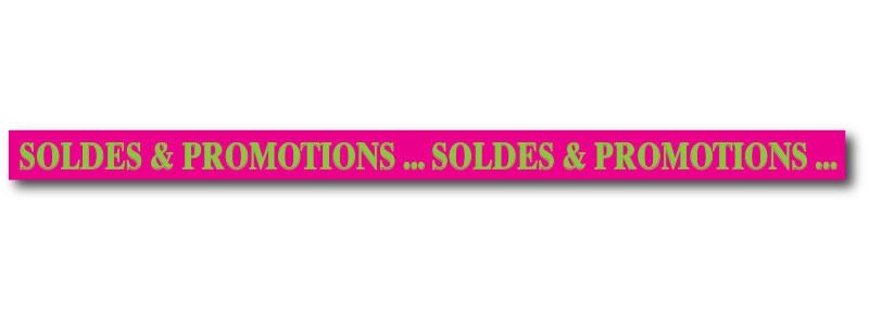 """Bandeau """"SOLDES & PROMOTIONS"""" L10 H168 cm"""