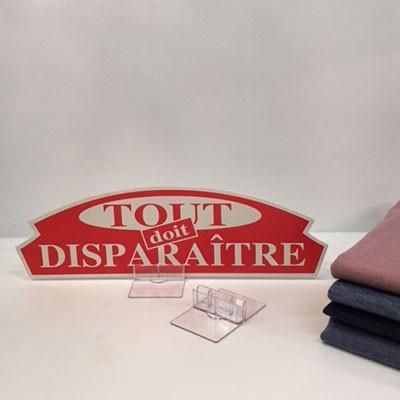 """Carton """"TOUT doit DISPARAITRE"""" L36 H11 cm"""