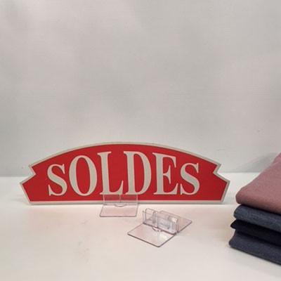 """Carton """"SOLDES"""" L36 H11 cm"""