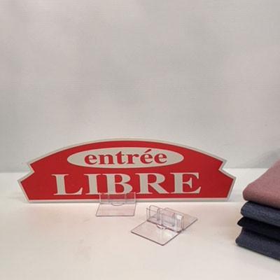 "Carton ""entrée LIBRE"" L36 H11 cm"