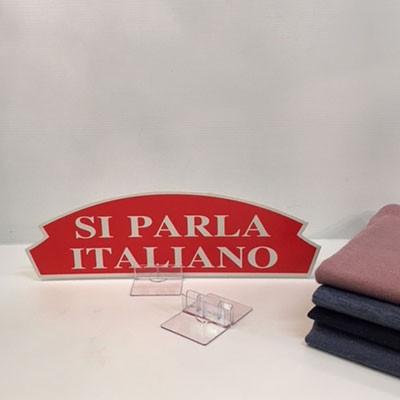 """Carton """"SI PARLA ITALIANO"""" L36 H15 cm"""