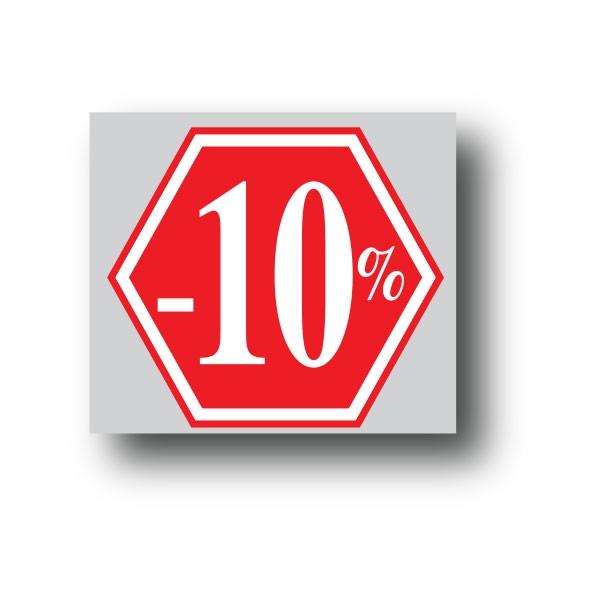 """Affiche """"-10%"""" L40 H40 cm"""