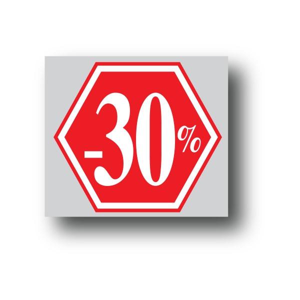 """Affiche """"-30%"""" L40 H40 cm"""