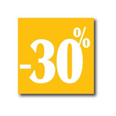 """Affiche """"- 30 %"""" L40 H40 cm"""