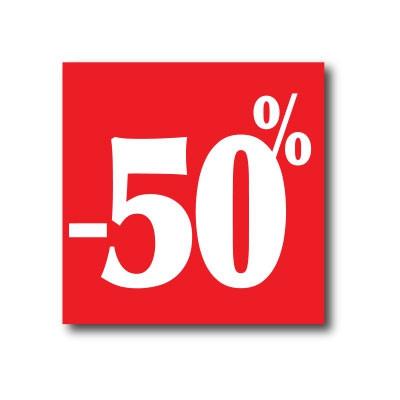 """Affiche """"- 50%"""" L40 H40 cm"""