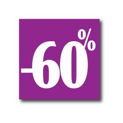 """Affiche """"- 60%"""" L40 H40 cm"""