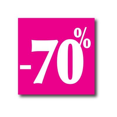 """Affiche """"- 70%"""" L40 H40 cm"""