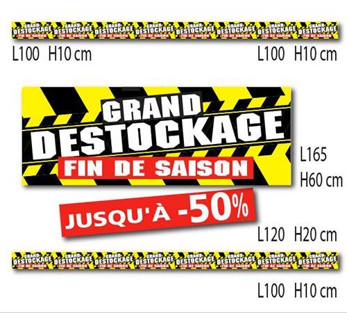 """Kit de 6 affiches """" GRAND DESTOCKAGE  FIN DE SAISON"""""""