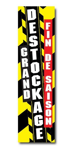 """Affiche"""" GRAND DESTOCKAGE  FIN DE SAISON"""" L20 H70cm"""