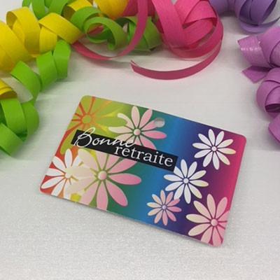 """Paquet de 50 étiquettes carton """"Bonne retraite"""" L95 H60 mm"""