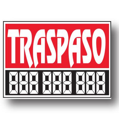 Cartel TRASPASO, 48 x 34 cm