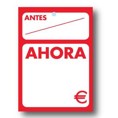 100 etiquetas ''AHORA''  35 x 50  mm