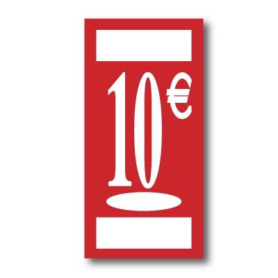 "Panneau polypro ""10€"" L19 H38 cm"