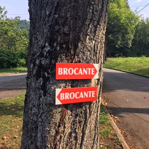 """Panneau  """"BROCANTE"""" 1 L38 H12,5 cm"""