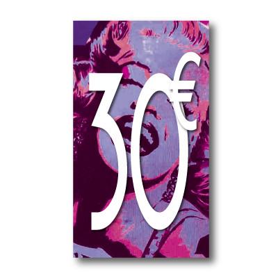 Panneau PVC 30€, 20x35cm