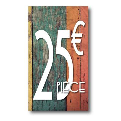 Panneau PVC 25€, 20x35cm