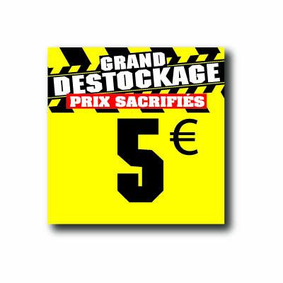 Panneau PVC 5€, 20x20cm