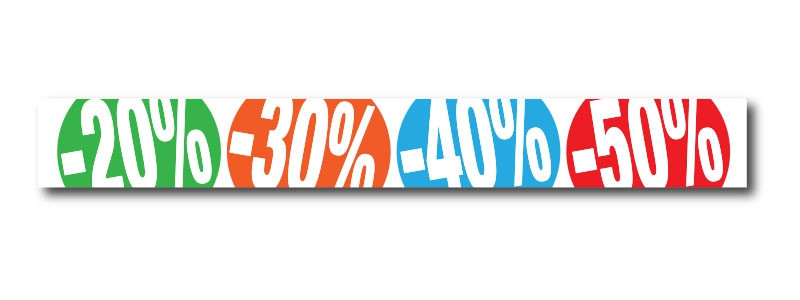 "Sticker adhésif ""%"" L200 H25 cm"