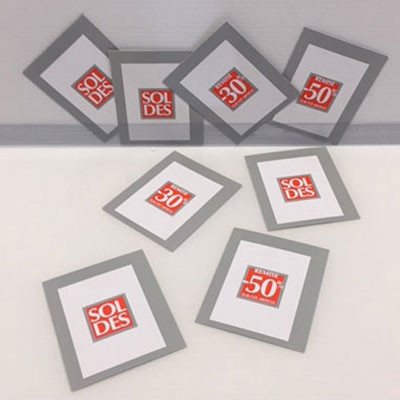 Paquet de 100 étiquettes carton assortis L70 H85 mm