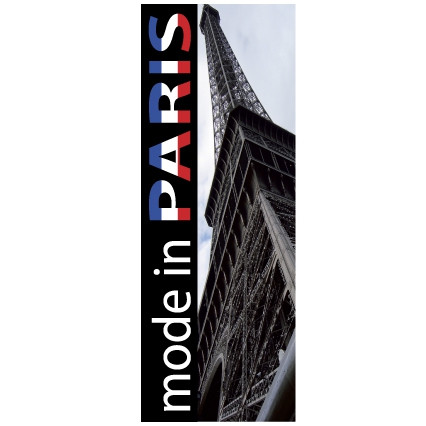 "Affiche ""MODE IN PARIS"" L35 H95 CM"