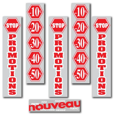 "KIT de 6 affiches ""STOP PROMOTIONS"""