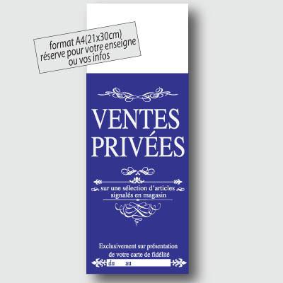 Panneau polypro VENTES PRIVEES 30x80cm