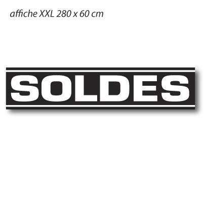 """Affiche """" SOLDES"""" XXL L280 H60"""