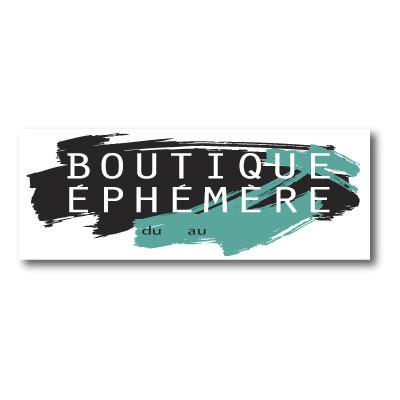 """Sticker adhésif """"BOUTIQUE EPHEMERE"""" L80 H30 cm"""
