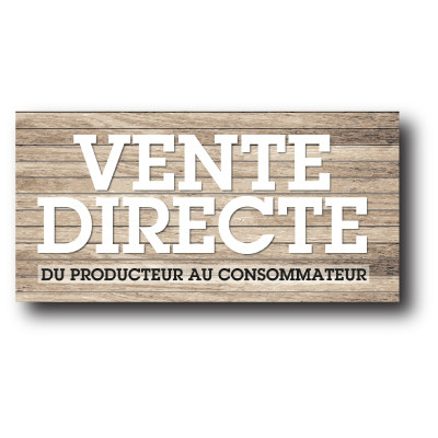 "Sticker adhésif ""VENTE DIRECTE"" L80 H40 cm"
