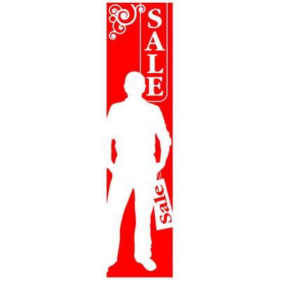 "Poster ""SALE"" man 168 X 40 CM"