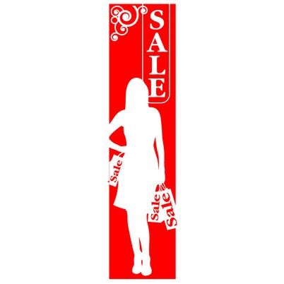 "Poster ""SALE"" woman 168 X 40 CM"