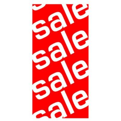 """Poster """"sale.sale.sale...."""" vertical 40 X 80 CM"""