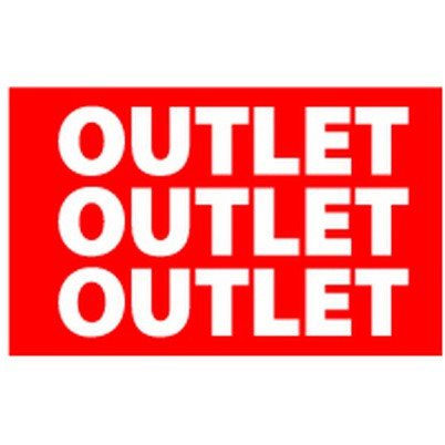 "Poster ""OUTLET"" 32 X 20 CM"