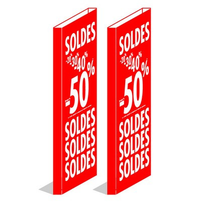 """Cache portillon antivol  """"SOLDES -20%-30%-40%-50%"""""""