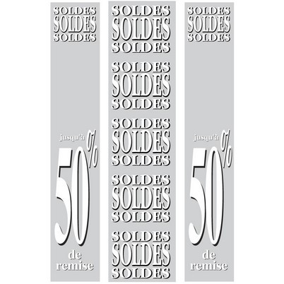 """Kit de 3 affiches """"SOLDES """""""